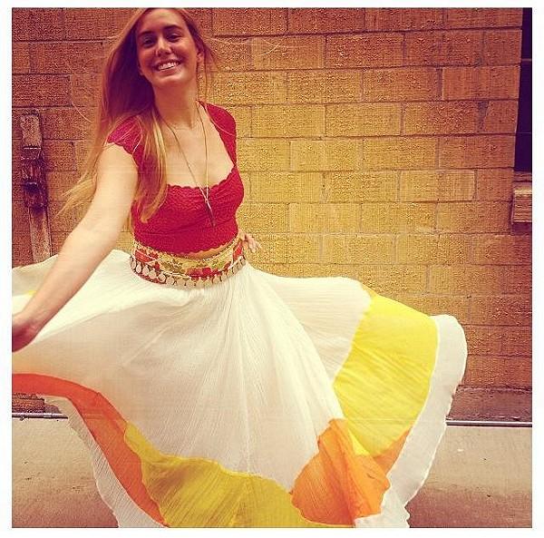 Manina Colorblock Skirt