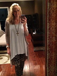 Dolled up sweater legging style pic