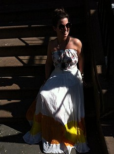 Manina Colorblock Skirt style pic