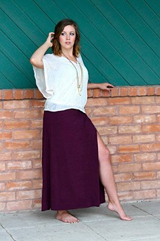 Solid Jersey Sahaying Maxi Skirt