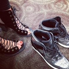 lace up shoes!.