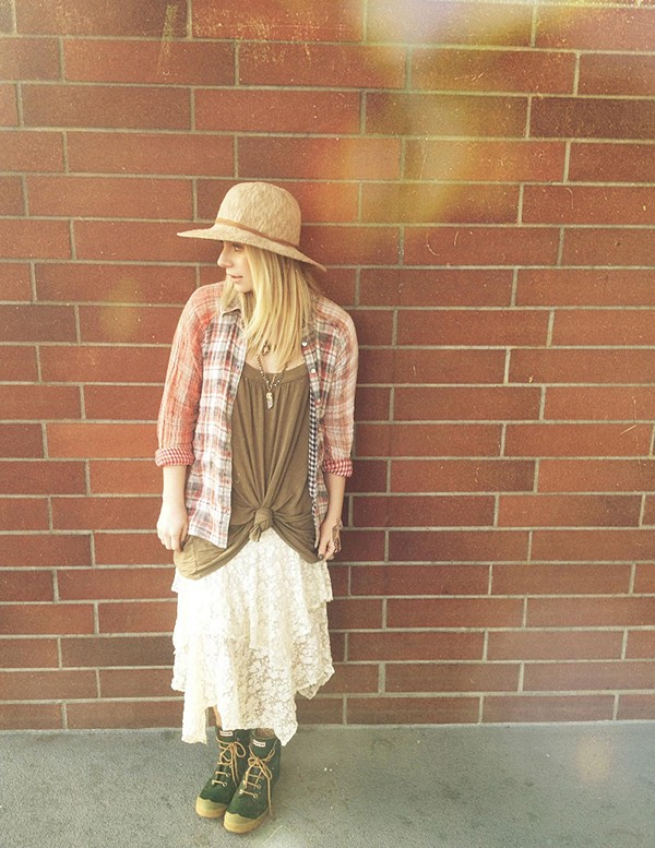 Artisan De Luxe Plaid Hi Low Buttondown Tunic