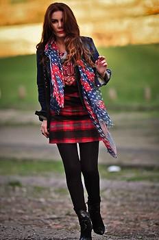 Blanket Stripe Shift Dress  style pic