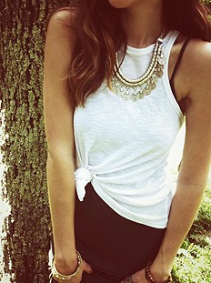 Pewter Short Chain Collar #love