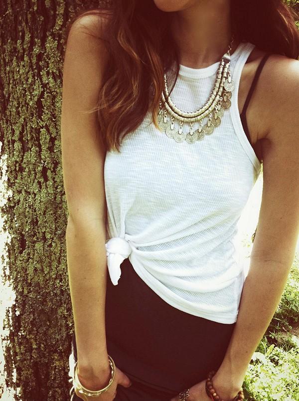 Pewter Short Chain Collar #love