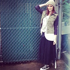 Knit Hooded Twill Jacket style pic