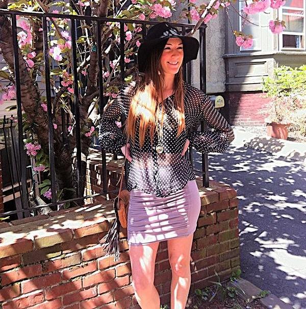 Sheer Dot Buttondown Shirt style pic
