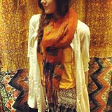 Space Dye Raw Edge Scarf style pic
