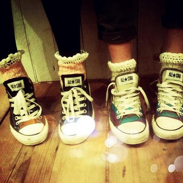Short Heathered Highland Boot Sock style pic