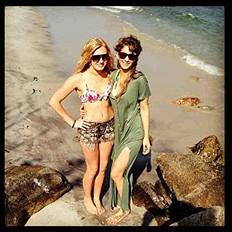 at the beach ?????
