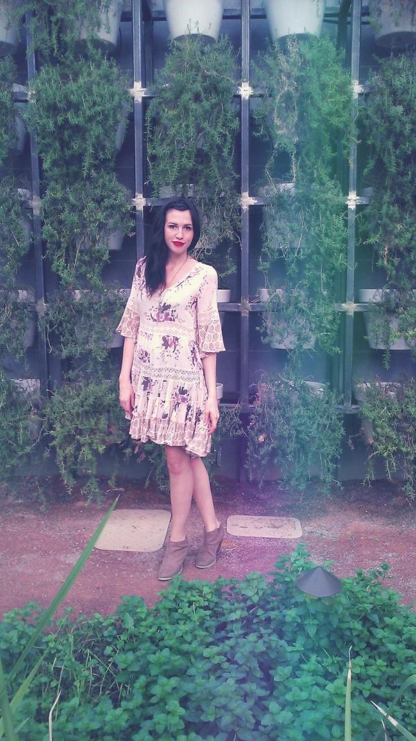 Dream Cloud Print Dress style pic