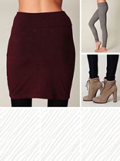 maroon high waisted pencil skirt