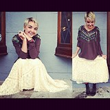 FP X Annie Oakley Lace Skirt