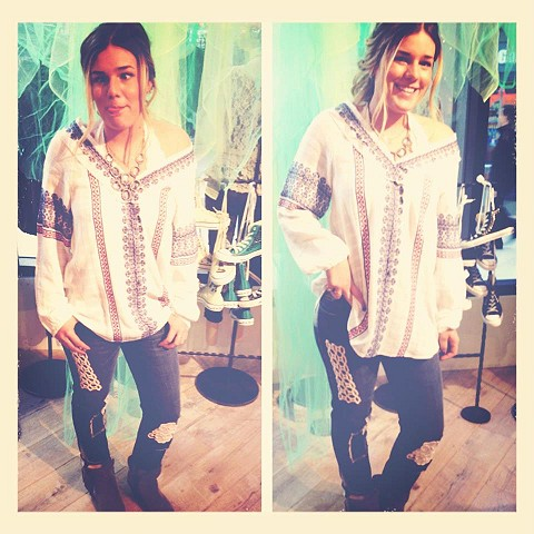 All Roads Embroidery Double V Tunic style pic