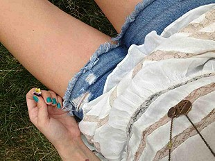 lace & denim & mini flowers