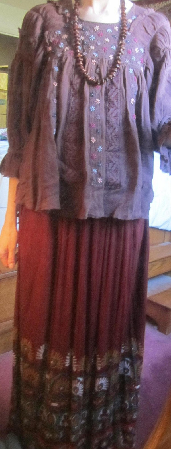 FP New Romantics Peasant Embroidered Blouse style