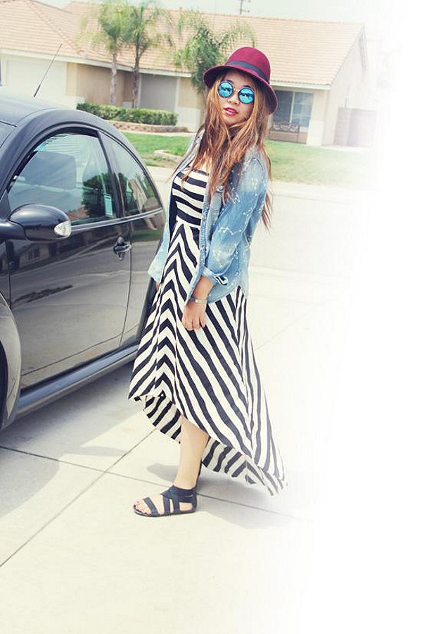 Kristal's Striped Maxi style pic