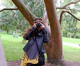 Clicking away in Kew Gardens London in my Trapeze