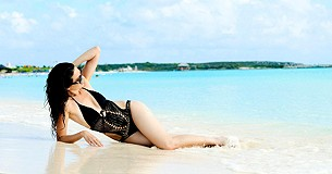 Crochet Monokini style pic on a Private Island in 