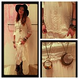 White Romance Embroidered Maxi style pic