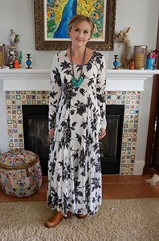 First Kiss Print Maxi Dress style pic