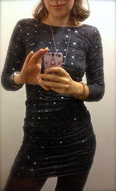 Long Sleeve Embellished Party Dress style pic