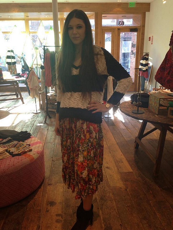 FP ONE Criss Cross Florals Maxi Dress style pic