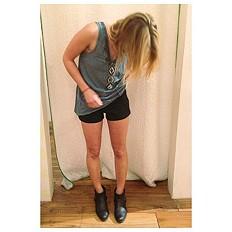 FP Vegan Leather Shorts style pic