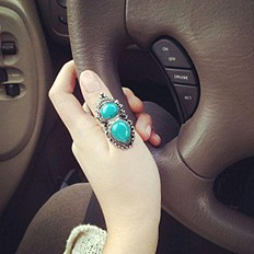 Double Indian Stone Ring style pic