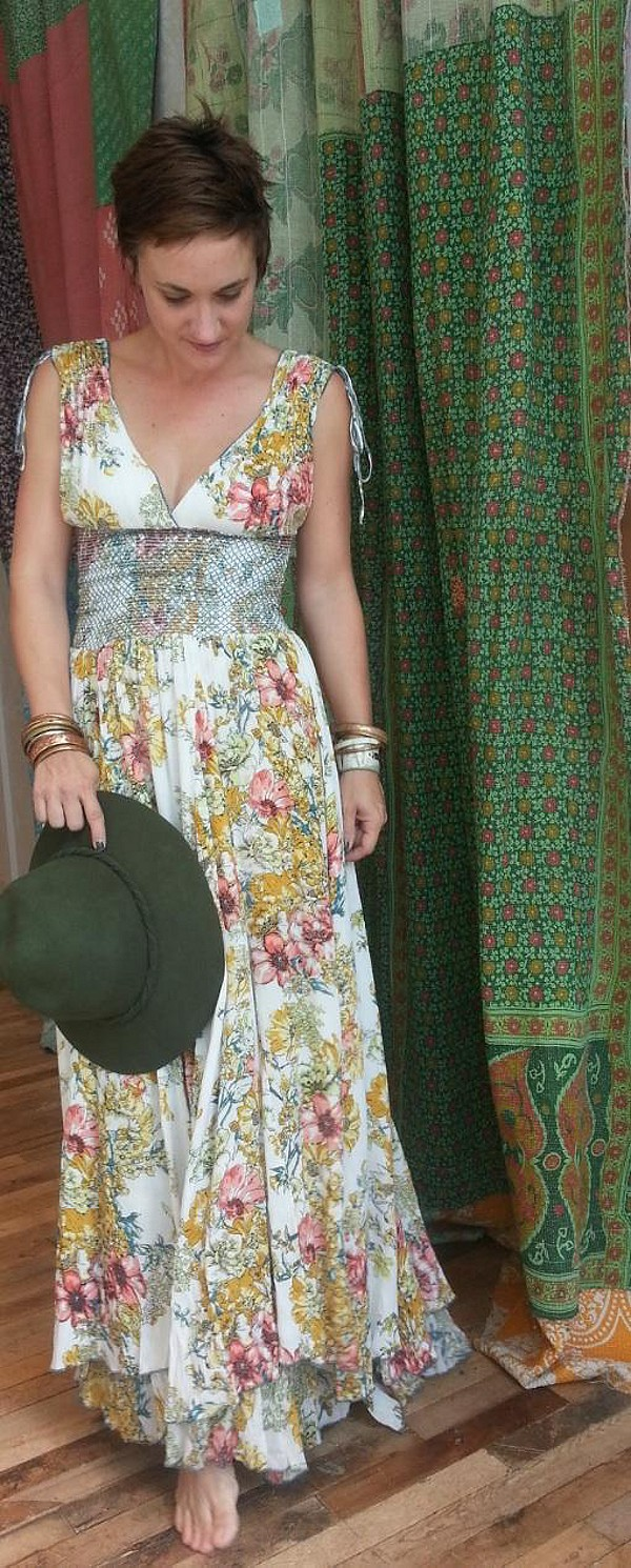 FP ONE Wisteria & Lattice Maxi Dress style pic