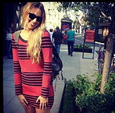 Striped Bodycon Dress style pic