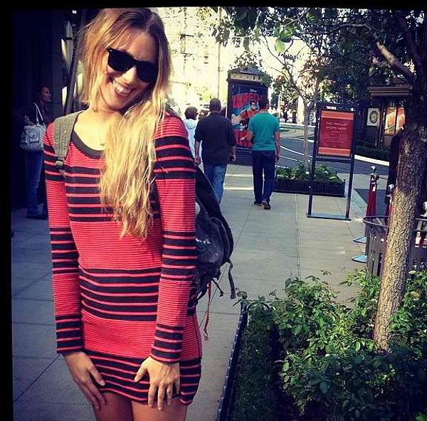 Striped Bodycon Dress style pic