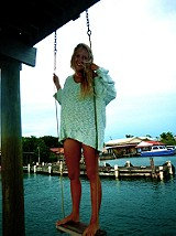Shaggy Knit Pullover on Alex in the Caribbean