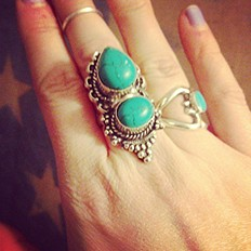 Double Indian Stone Ring