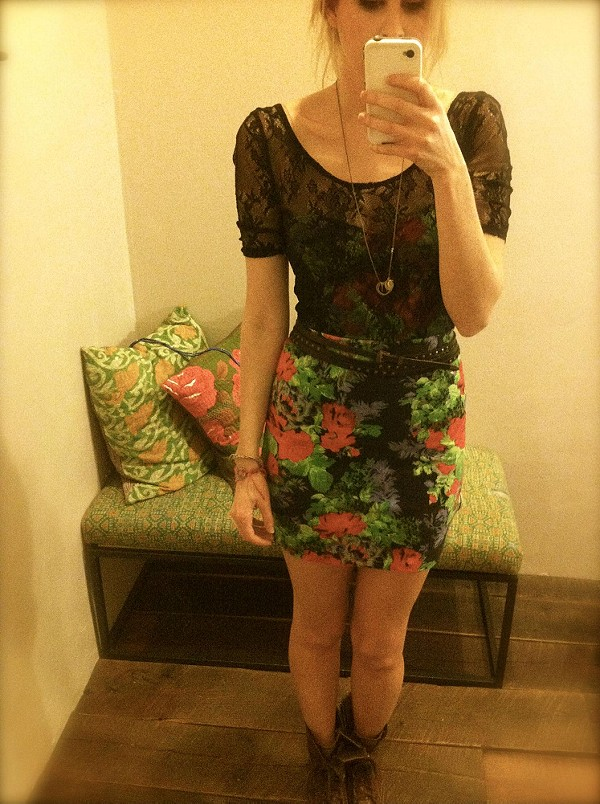 Lace Overlay Bodycon style pic