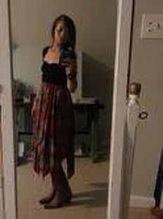 Printed Fly Away Skirt