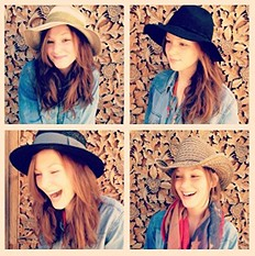 Ombre Straw Panama Hat & others