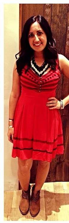 Fun Fun Fun Embroidered Fit And Flare Dress style