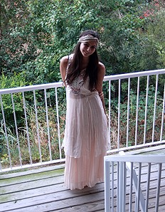 Embellished Open Panel Maxi style pic