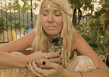 Sage smudging in my Bella Headpiece