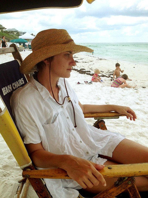 Oversize Button Down style beach pic