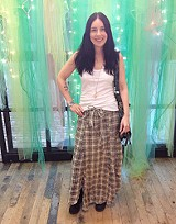 Janus Plaid Maxi Skirt style pic