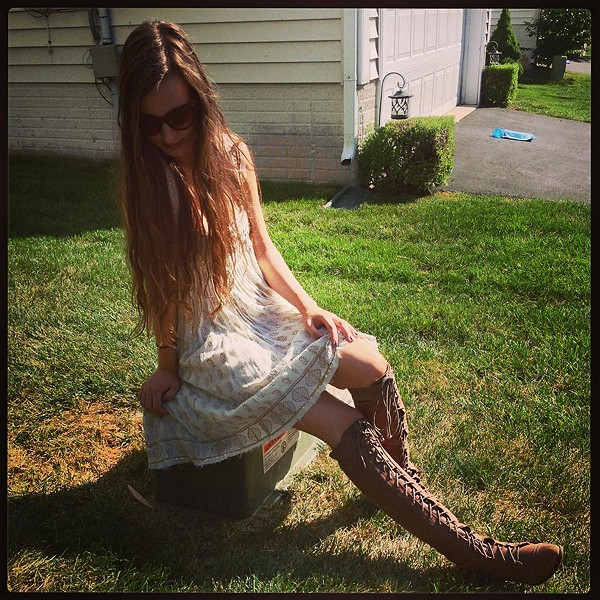 love this dress and these boots!
