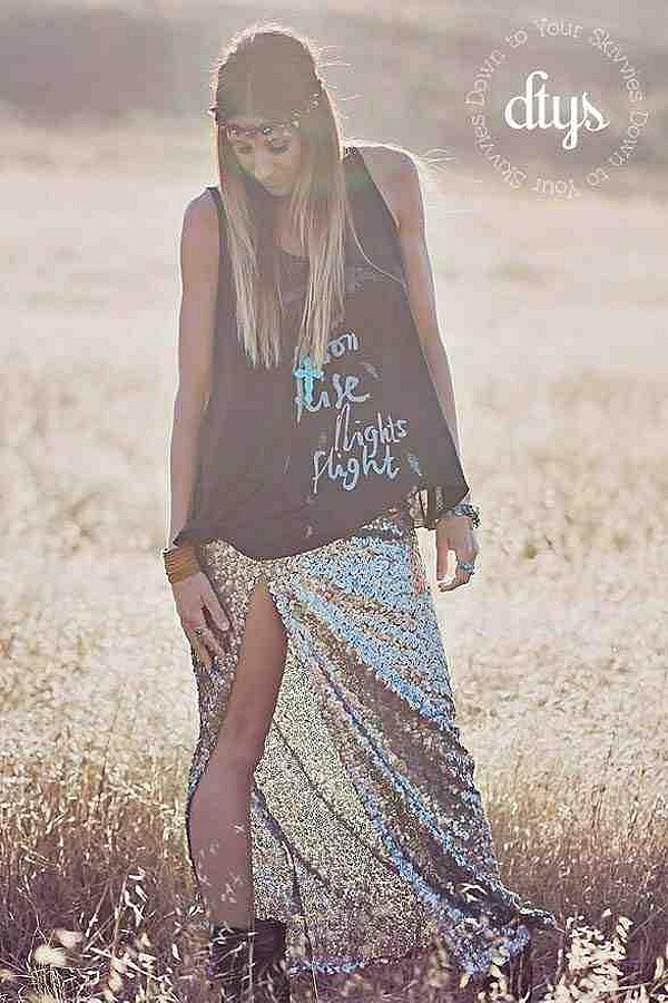 sequin mermaid skirt