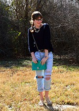 Open Neck Sweater Tunic style pic