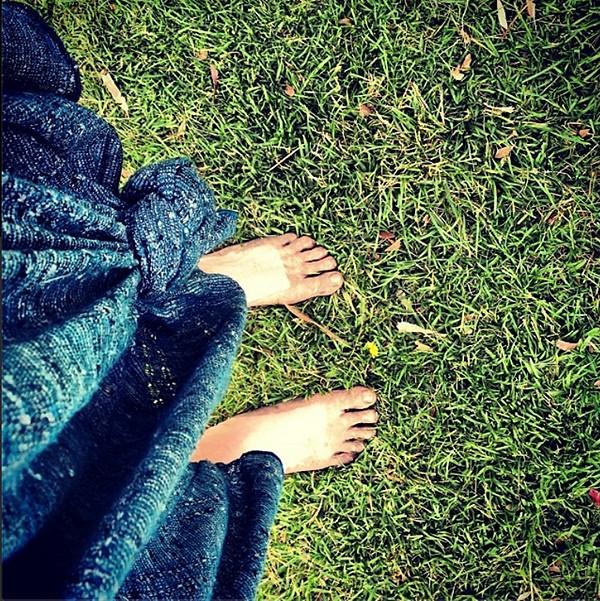 Starry Night Dress & dancing in muddy fields
