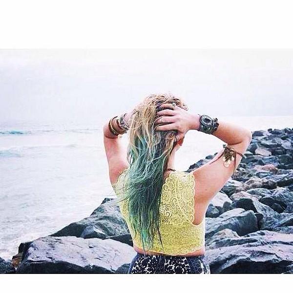 Just pretending that I am a mermaid
