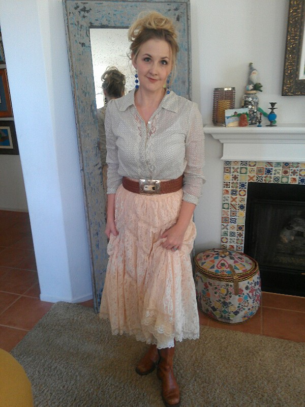 FP X Annie Oakley Lace Skirt style pic