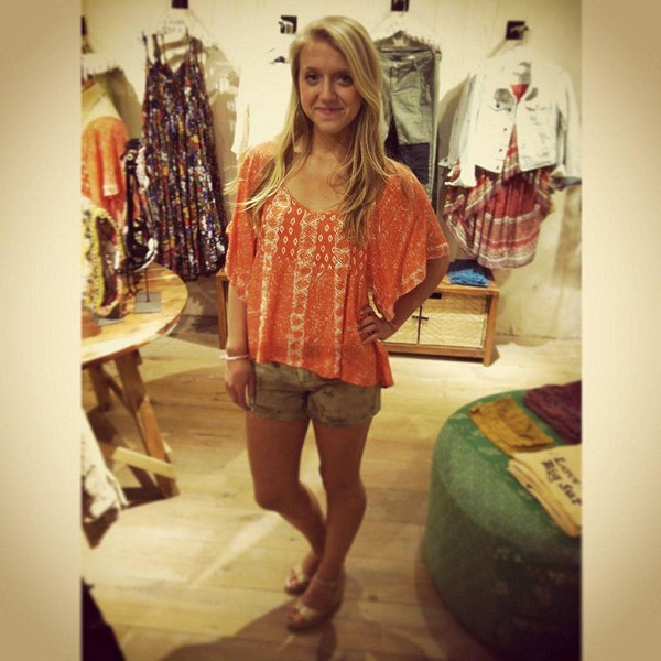 Mixed Print Top style pic
