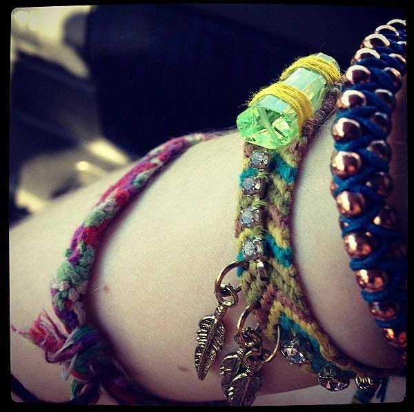 Studded Friendship Bracelet style pic